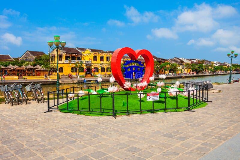 Hoi An stadsymbol, Vietnam royaltyfria foton