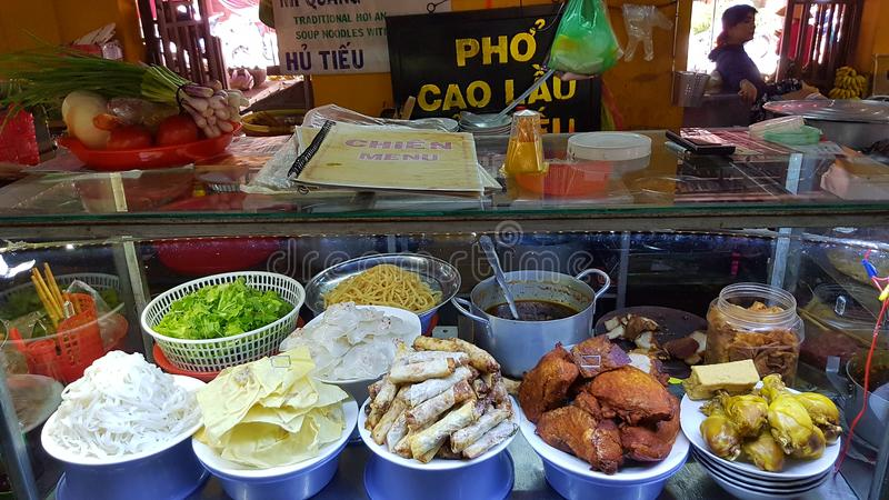 Hoi An street food market stock image