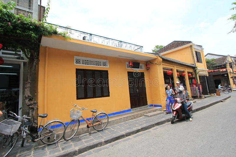 Hoi An street view in Vietname stock image