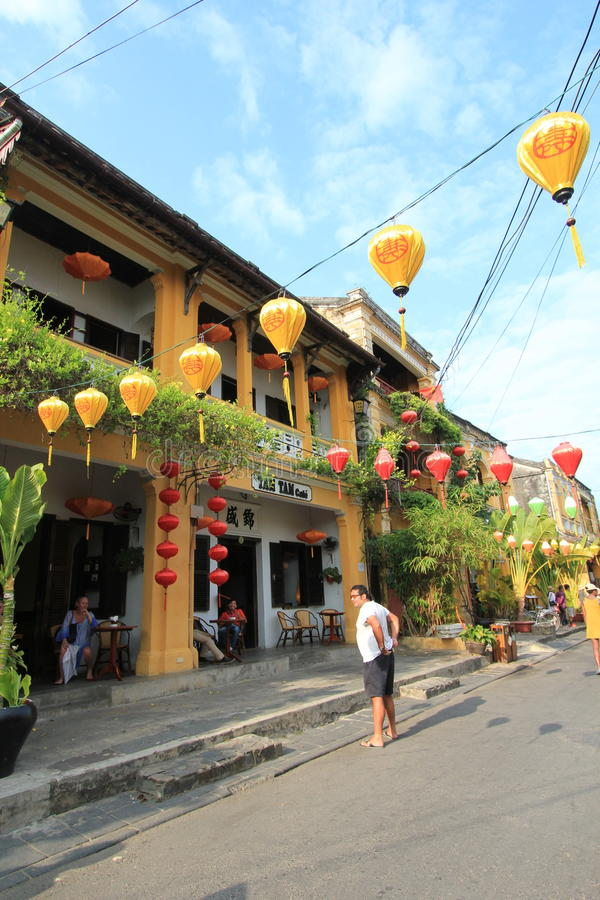 Hoi An street view in Vietname stock photography