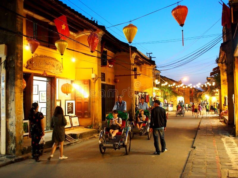HOI, um mercado internacional chinês e europeu japonês histórico em VIETNAME fotografia de stock