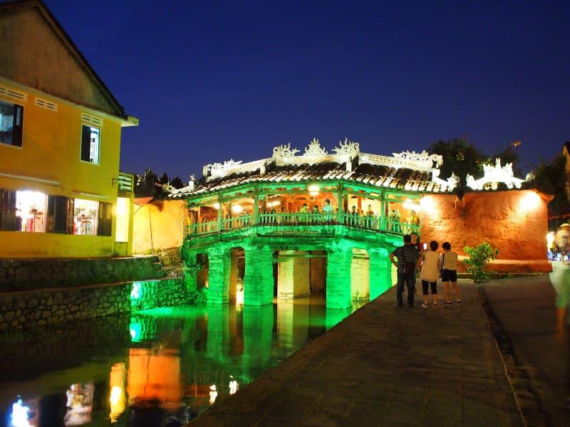 HOI, um mercado internacional chinês e europeu japonês histórico em VIETNAME fotos de stock royalty free