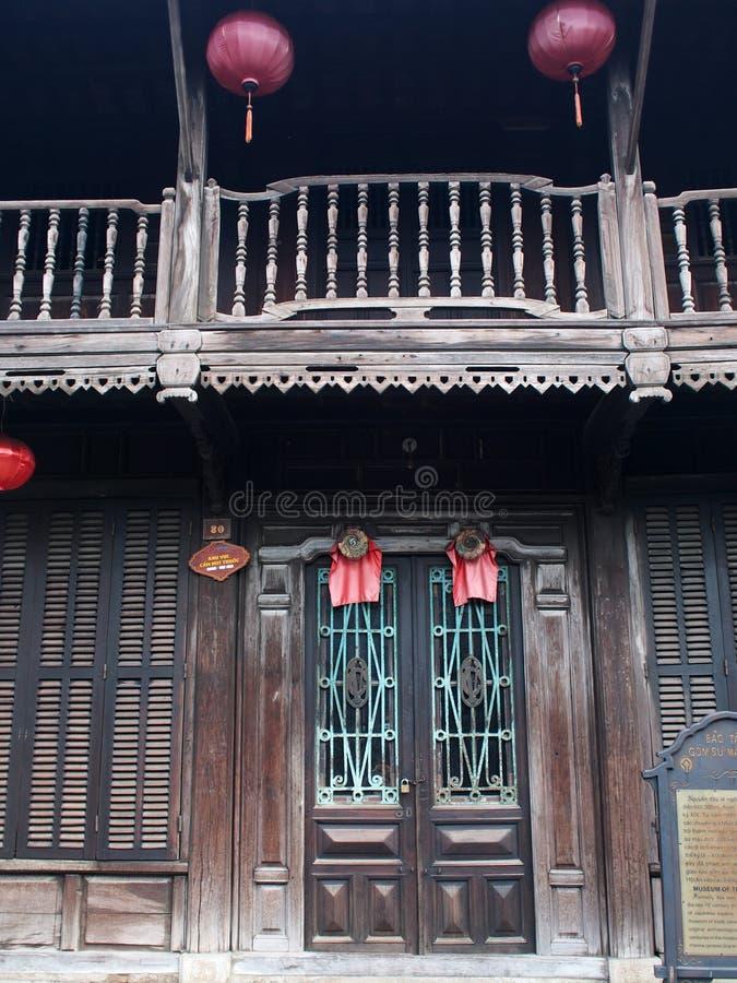 HOI, um mercado internacional chinês e europeu japonês histórico em VIETNAME fotografia de stock royalty free