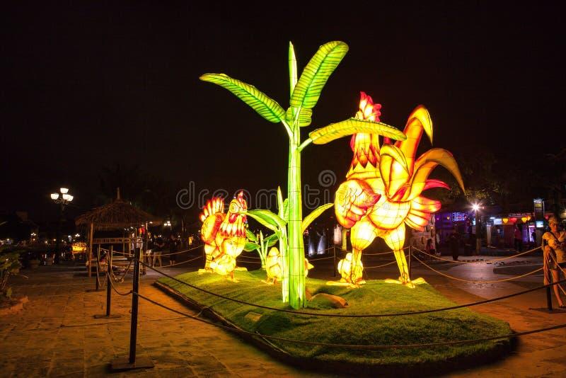 HOI, VIETNAM - 17 MARZO 2017: Il deposito tradizionale delle lanterne in Hoi An, Vietnam, Hoi una città antica è riconosciuto immagini stock libere da diritti