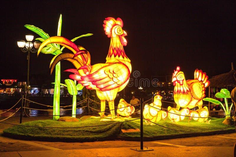 HOI, VIETNAM - 17 MARZO 2017: Il deposito tradizionale delle lanterne in Hoi An, Vietnam, Hoi una città antica è riconosciuto immagine stock libera da diritti