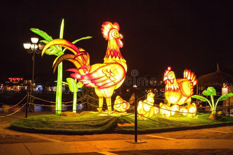 HOI, VIETNAM - 17 MARZO 2017: Il deposito tradizionale delle lanterne in Hoi An, Vietnam, Hoi una città antica è riconosciuto fotografia stock libera da diritti