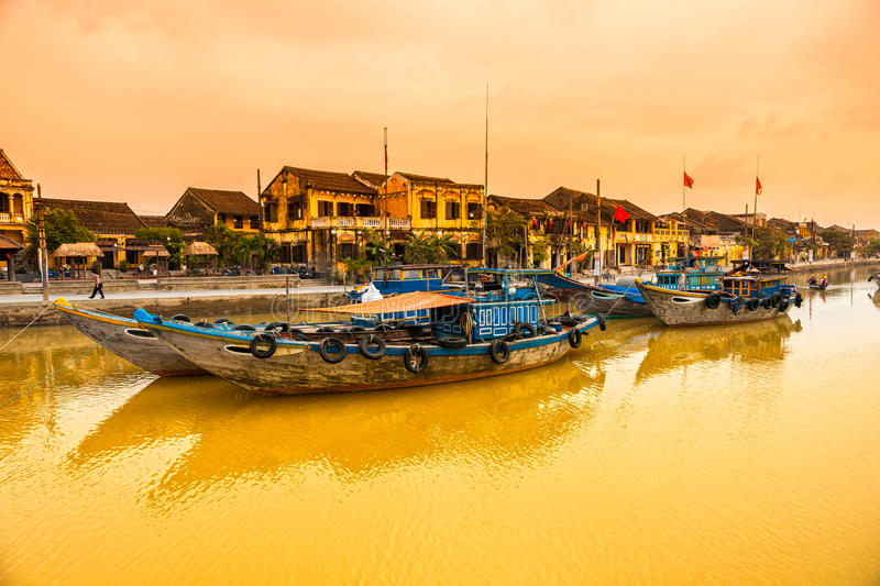 Hoi An. Vietnam. View on the old town of Hoi An. Vietnam. Unesco World Heritage Site royalty free stock photos