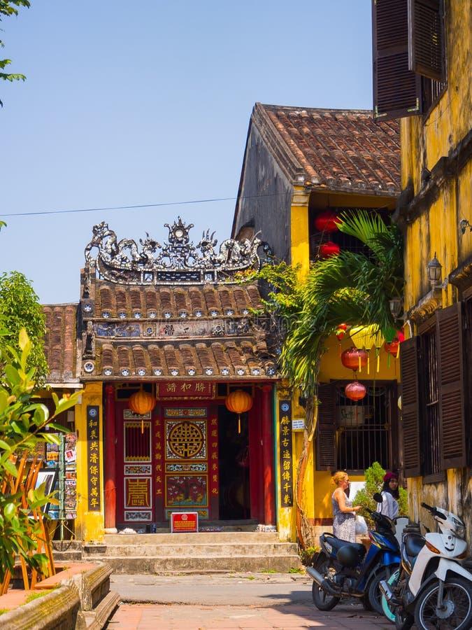 国�y���an_hoian,越南- 2016年11月05日:老房子在会安市古镇,联合国科教文组织