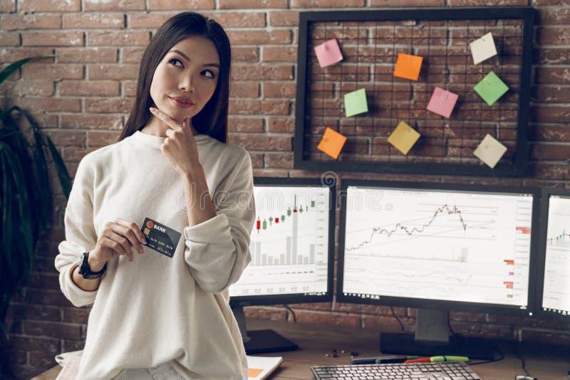 Hoice Ð ¡ van bank en kaart beste voorwaarden, minimumrente stock foto