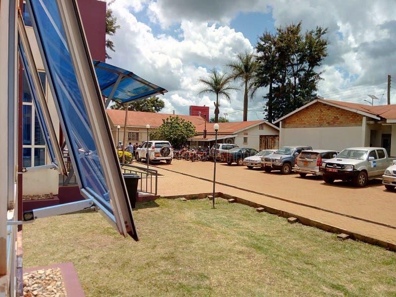 Hoima regionalt remisssjukhus, västra Uganda royaltyfri foto