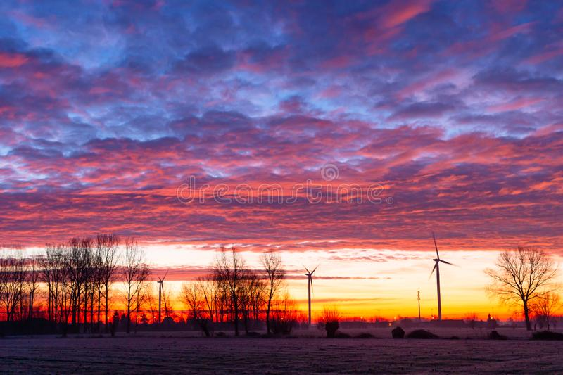Cloudy sky at sunrise royalty free stock photo