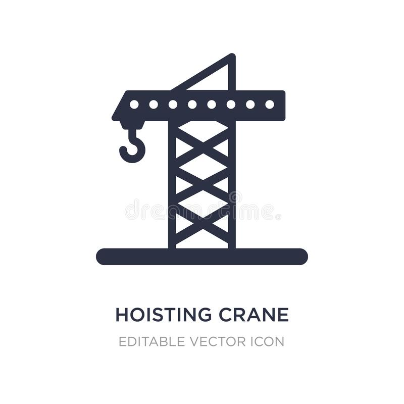 Hoisting crane icon on white background. Simple element illustration from Signaling concept. Hoisting crane icon symbol design stock illustration