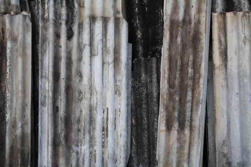 Hoja acanalada vieja de la textura fotografía de archivo libre de regalías