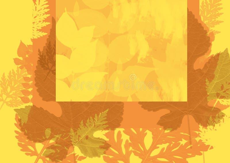 Hoja amarilla del fondo del otoño ilustración del vector