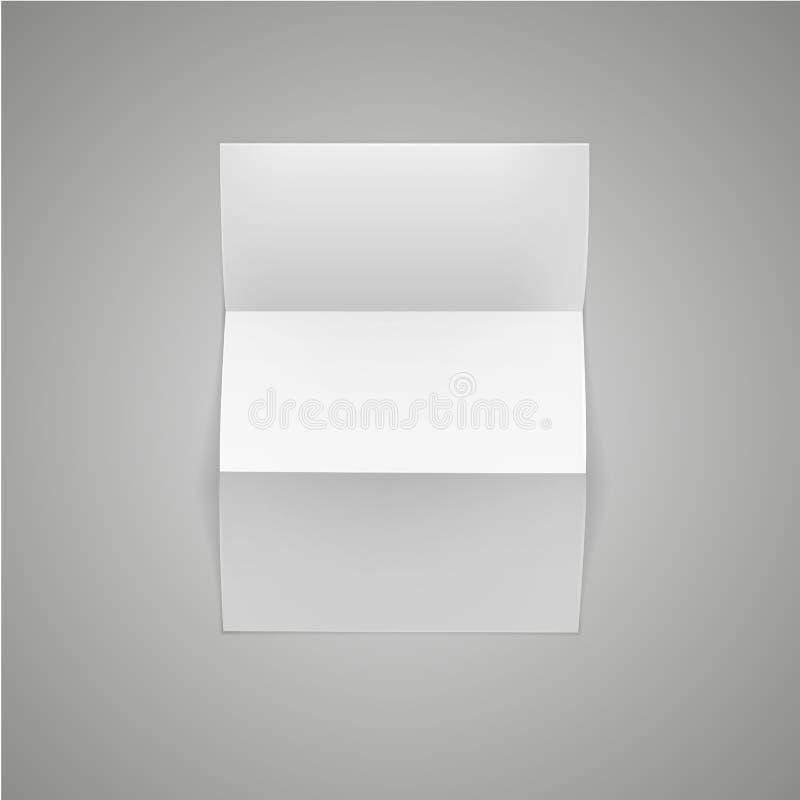 Hoja blanca de la página del papel en blanco con el rizo de la esquina ilustración del vector