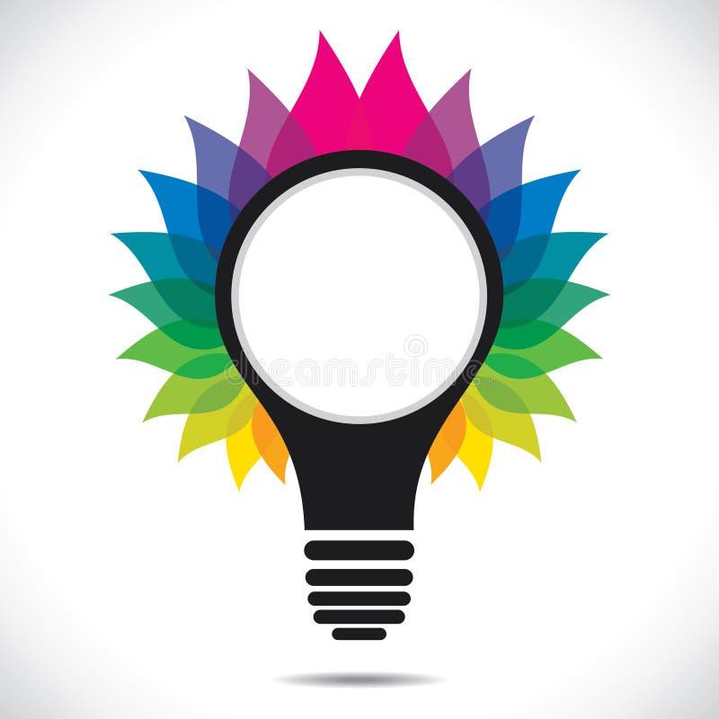 Hoja colorida alrededor del bulbo libre illustration