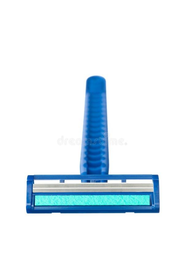 Hoja de afeitar disponible azul imagenes de archivo