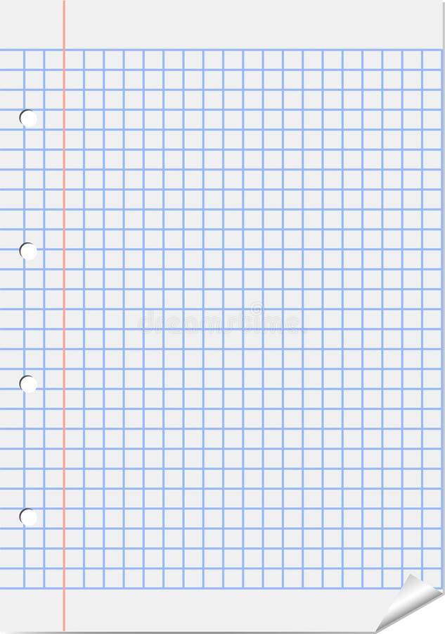 Hoja de ajustado con el margen rojo ilustración del vector