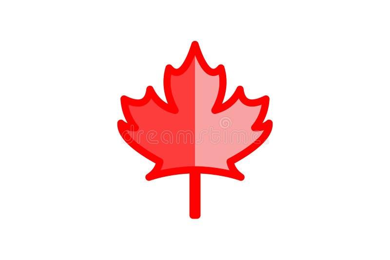 Hoja de arce roja canadiense Logo Designs Inspiration Isolated en el fondo blanco stock de ilustración