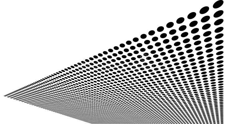 Hoja de círculos negros combados ilustración del vector