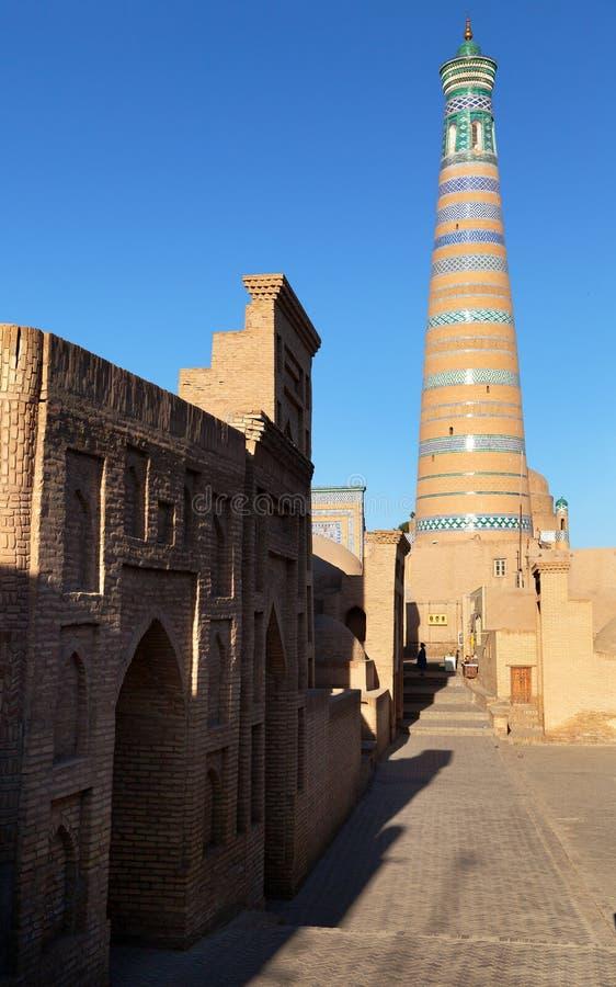 Hoja de Islom - Khiva - Uzbekistán foto de archivo libre de regalías