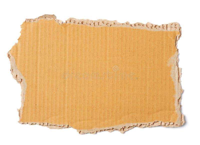 Hoja de la cartulina acanalada de Brown foto de archivo