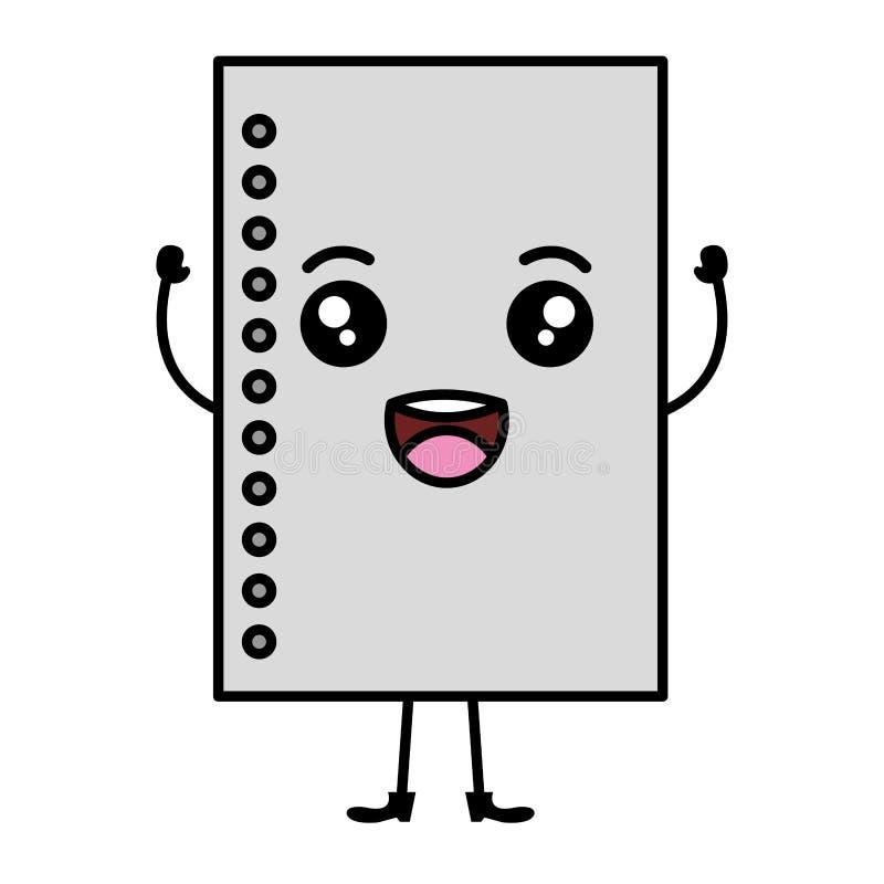 Hoja de la escuela del cuaderno stock de ilustración