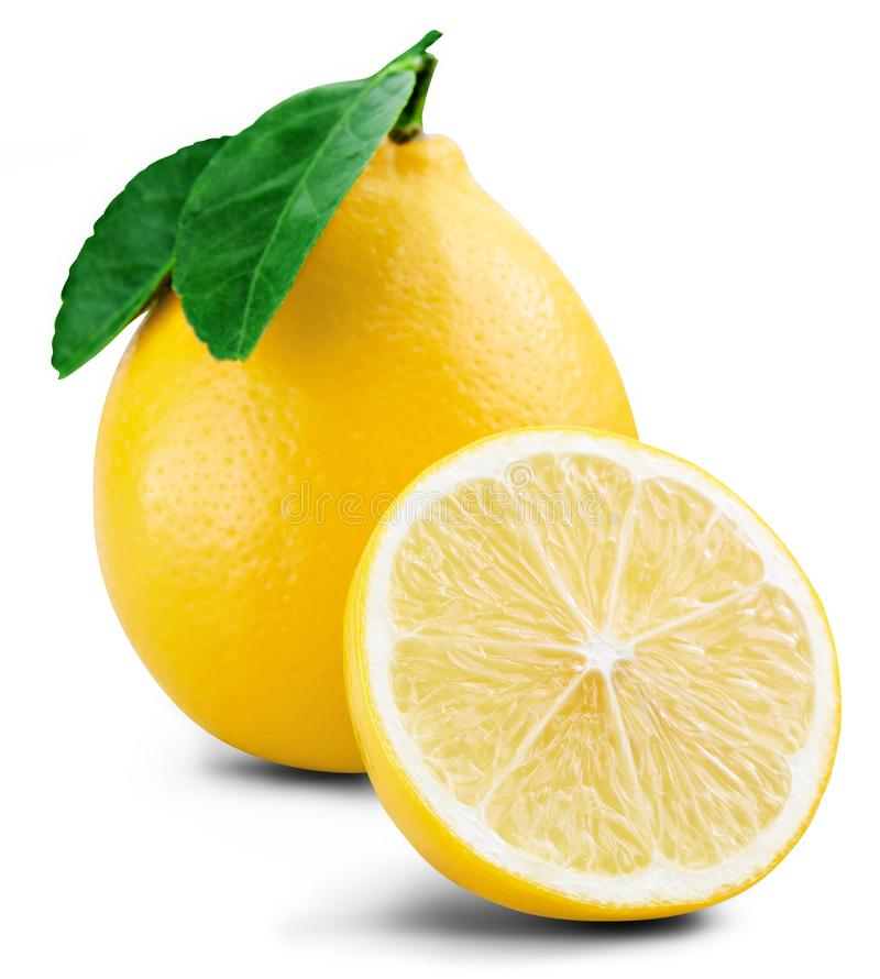 Hoja de la fruta del limón fotografía de archivo