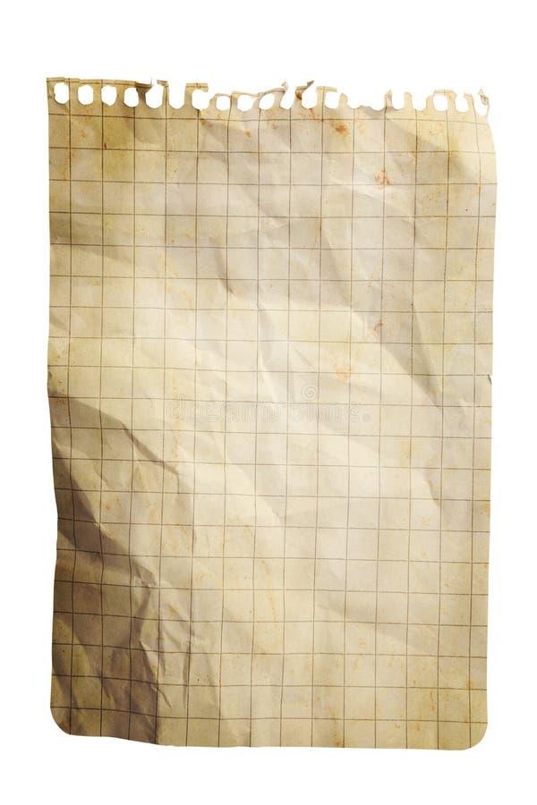 Hoja de la libreta del papel ajustado fotos de archivo libres de regalías