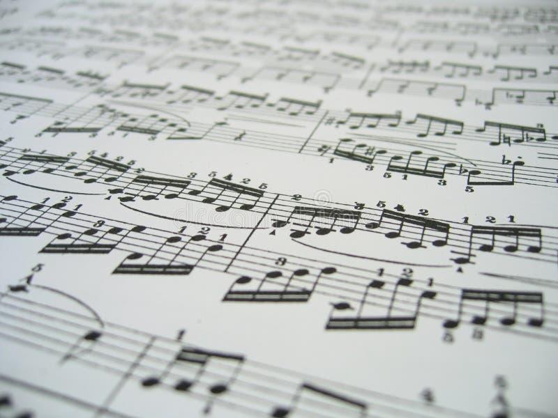 Hoja de la música fotografía de archivo libre de regalías