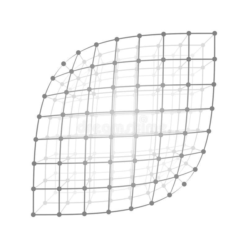 Hoja de la malla de Wireframe stock de ilustración