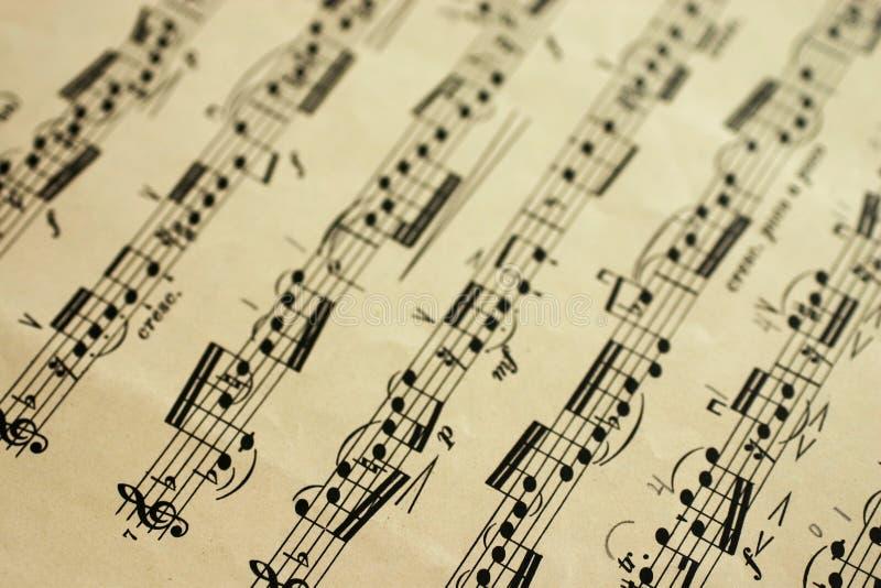 Hoja de música fotografía de archivo libre de regalías