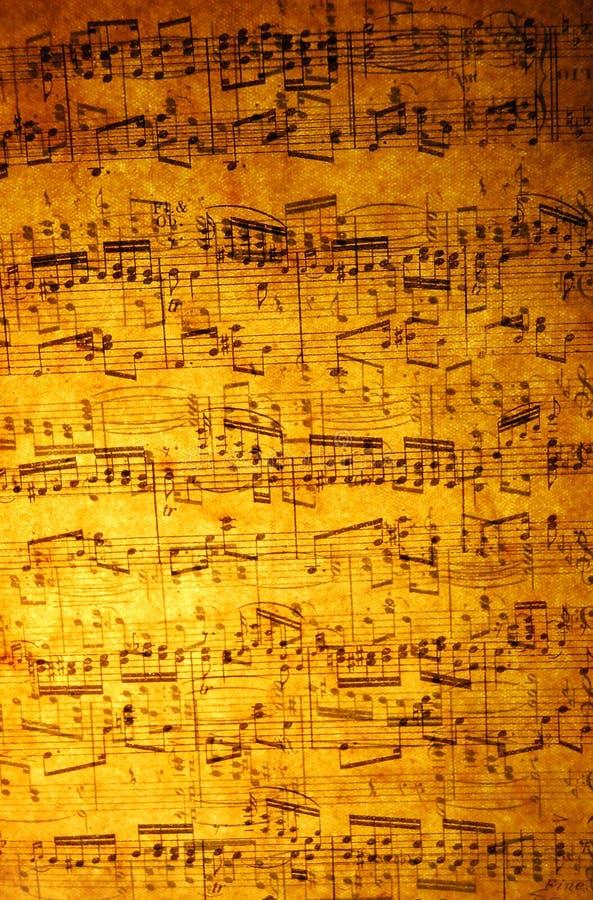 Hoja De Música De La Vendimia Fotos de archivo