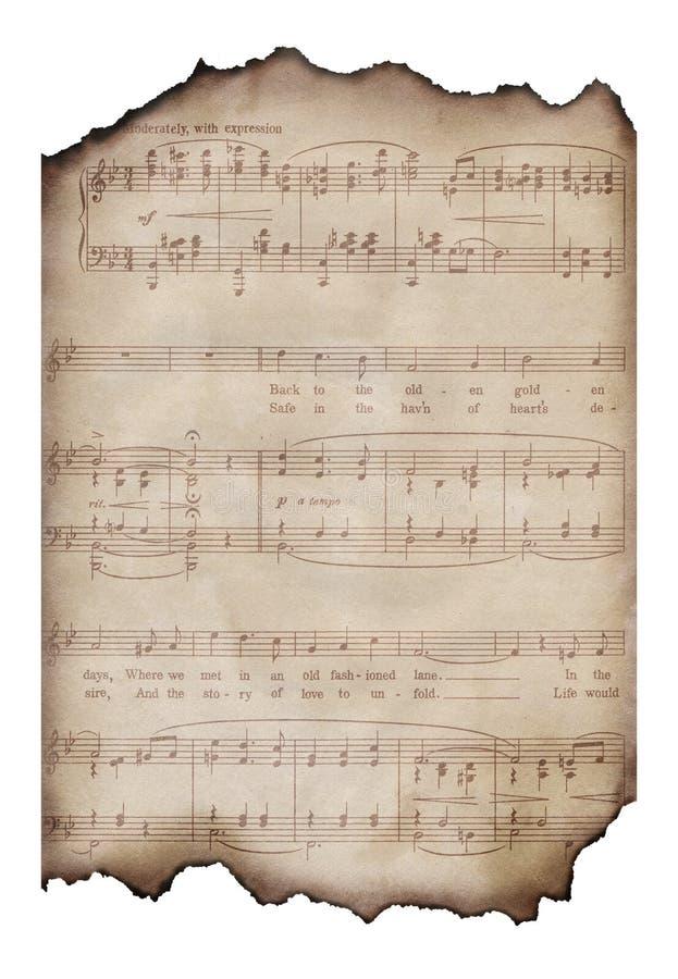 Hoja De Música Quemada De La Vendimia Foto de archivo - Imagen de ...
