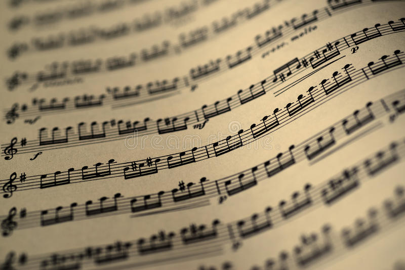 Hoja De Música, Tono Del Color De La Sepia Foto de archivo - Imagen ...