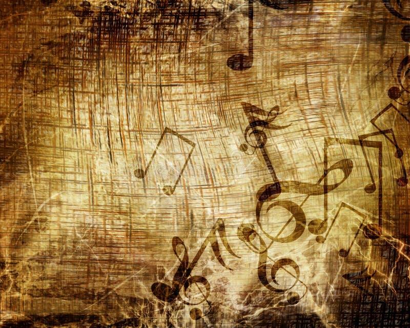 Hoja de música vieja stock de ilustración