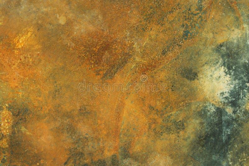 Hoja de metal oxidada con defectos foto de archivo