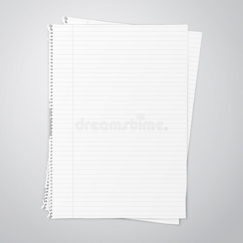 Hoja de papel vacía ilustración del vector