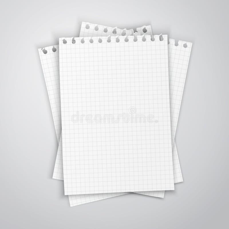Hoja de papel vacía stock de ilustración