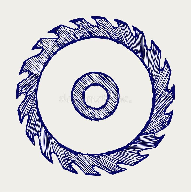 Hoja de sierra circular stock de ilustración