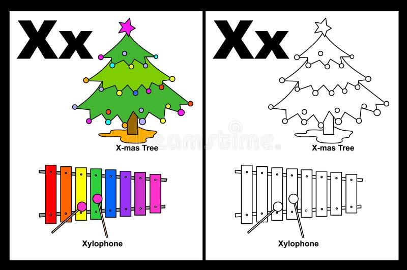 Hoja de trabajo de la carta X libre illustration