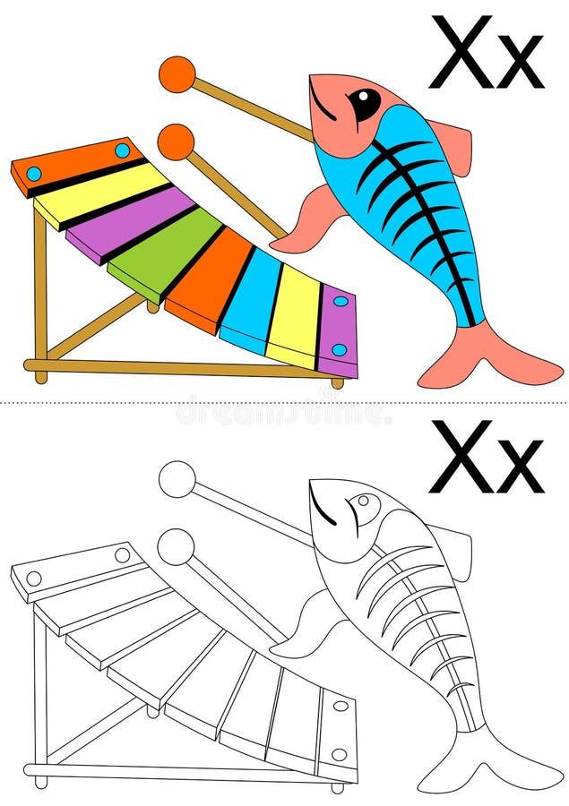 Hoja de trabajo de la carta X ilustración del vector