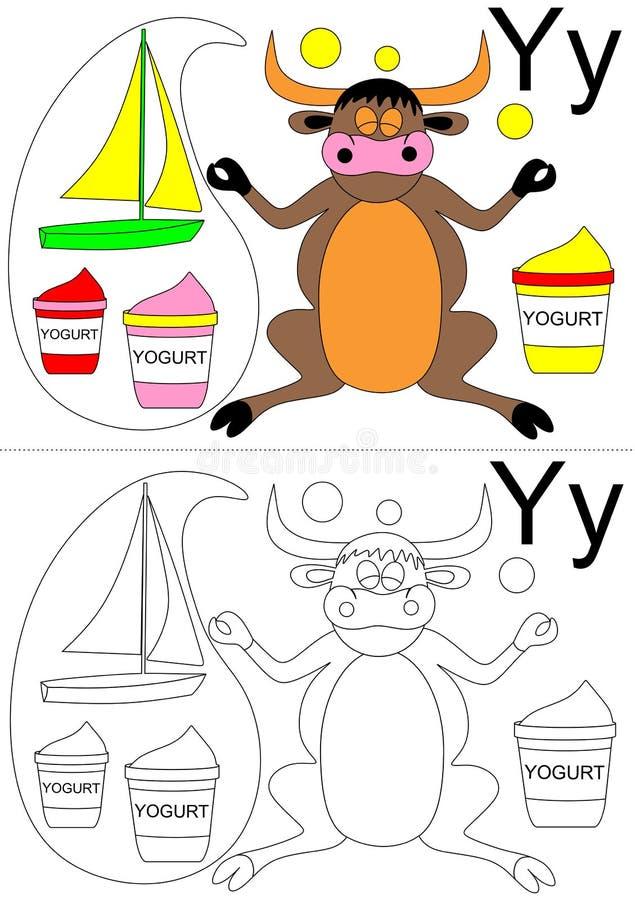 Hoja de trabajo de la letra Y ilustración del vector