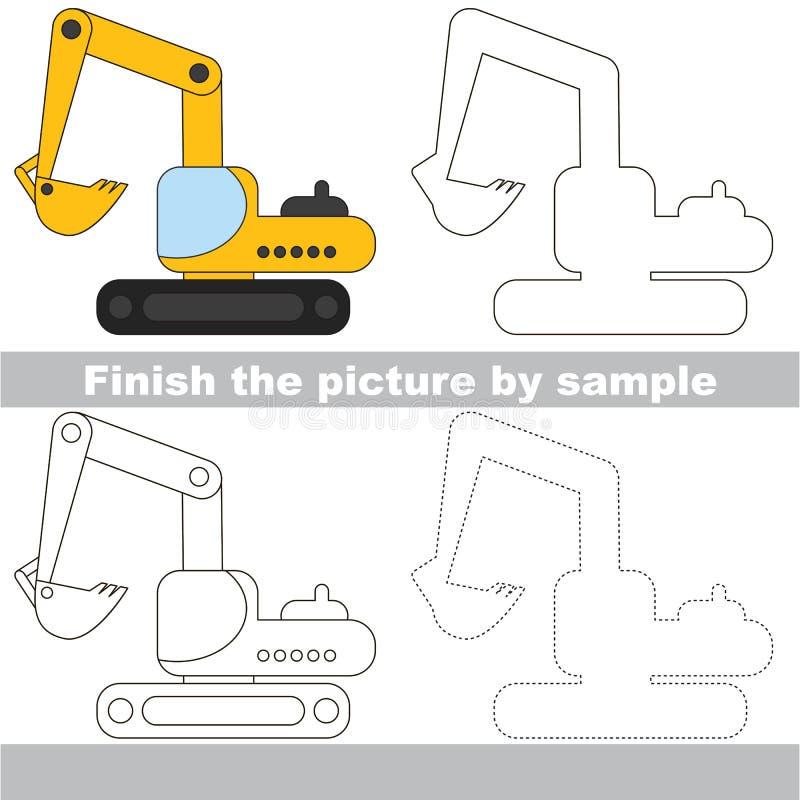 Hoja de trabajo del dibujo para Toy Transport stock de ilustración