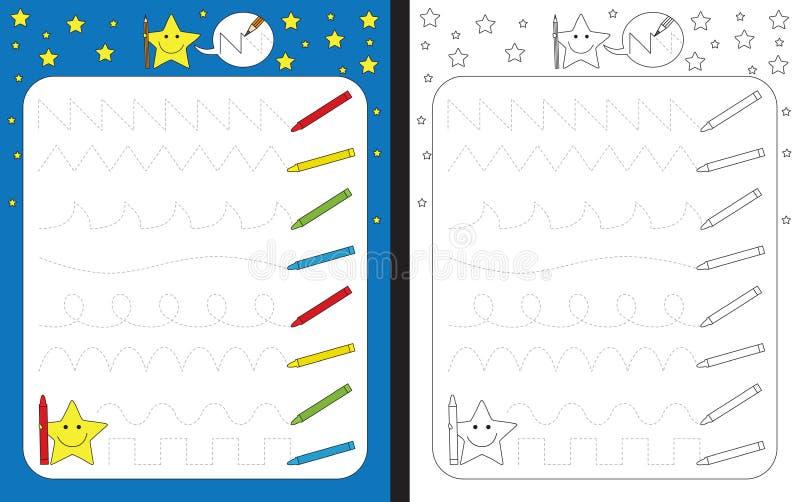 Hoja de trabajo preescolar ilustración del vector