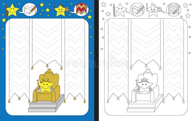Hoja de trabajo preescolar stock de ilustración