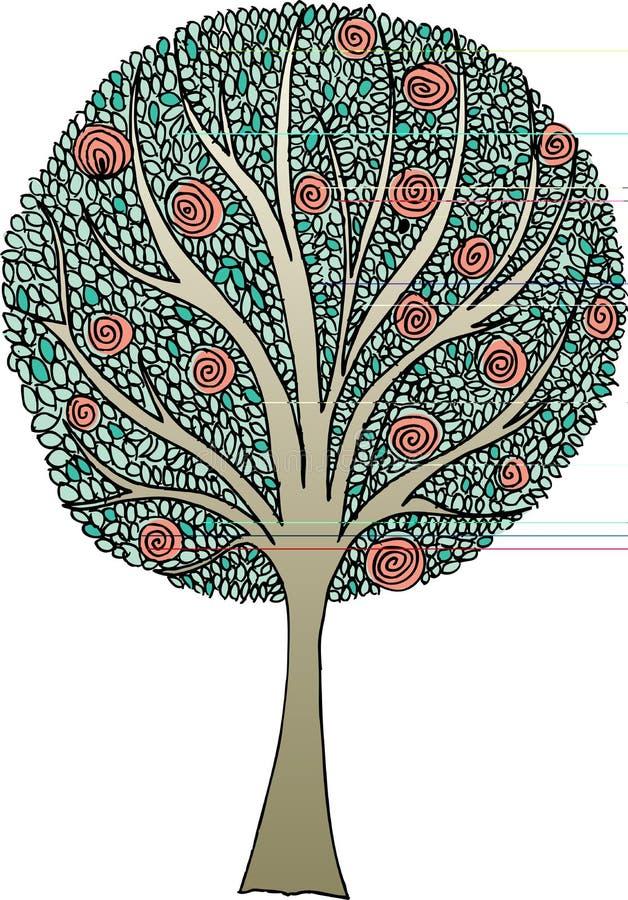 Hoja del árbol stock de ilustración