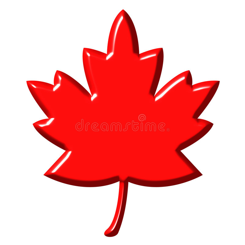 hoja del canadiense 3D ilustración del vector
