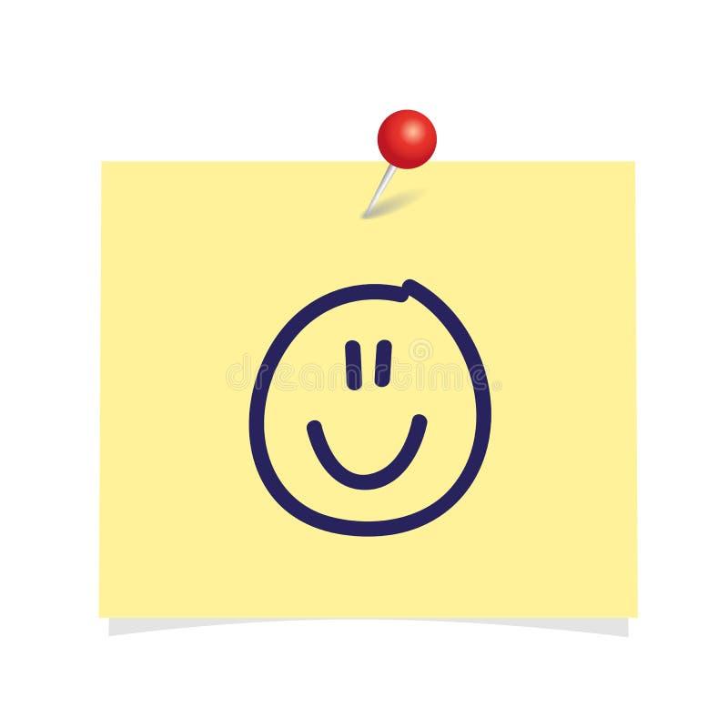 Hoja del papel de la oficina con la cara feliz sonriente linda libre illustration