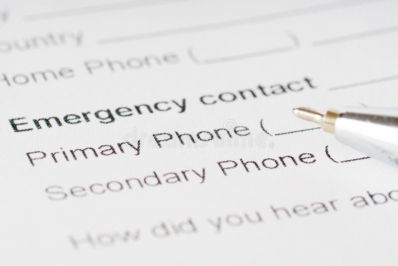 Hoja del papel de plan de emergencia imágenes de archivo libres de regalías